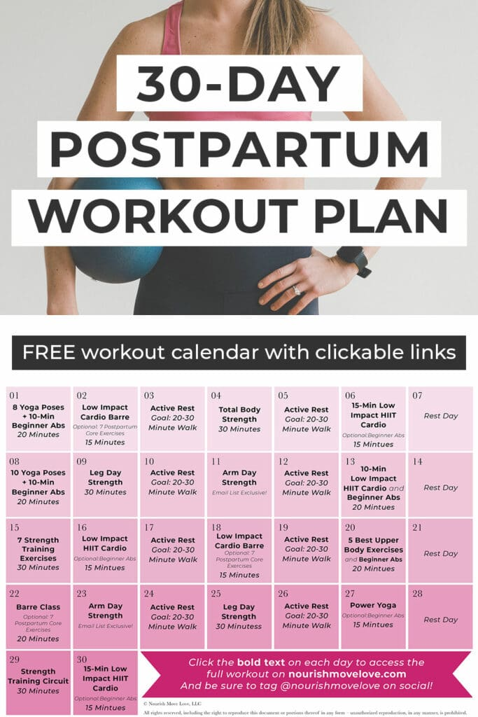 Postpartum Workout Plan