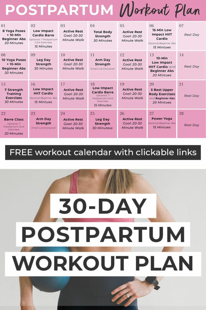 30 Day Postnatal Workout Plan