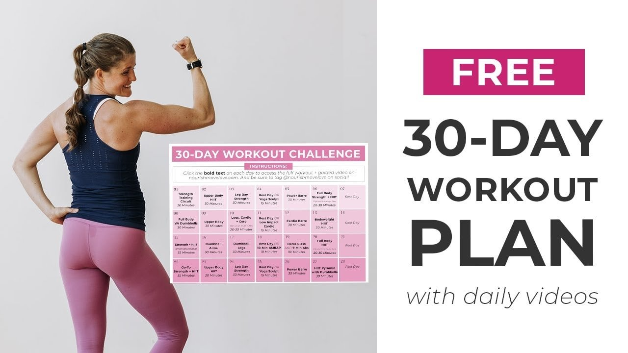 30 Day Home Workout Plan #1