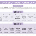 14 Day Challenge | Calendar Graphic