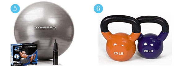 Home Gym Equipment You Can Order on Amazon kettlebells and stability ball