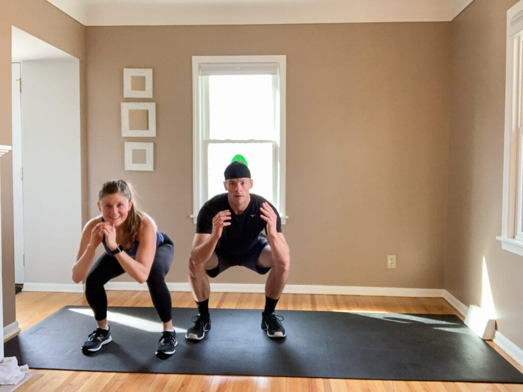 no equipment HIIT workout in my living room