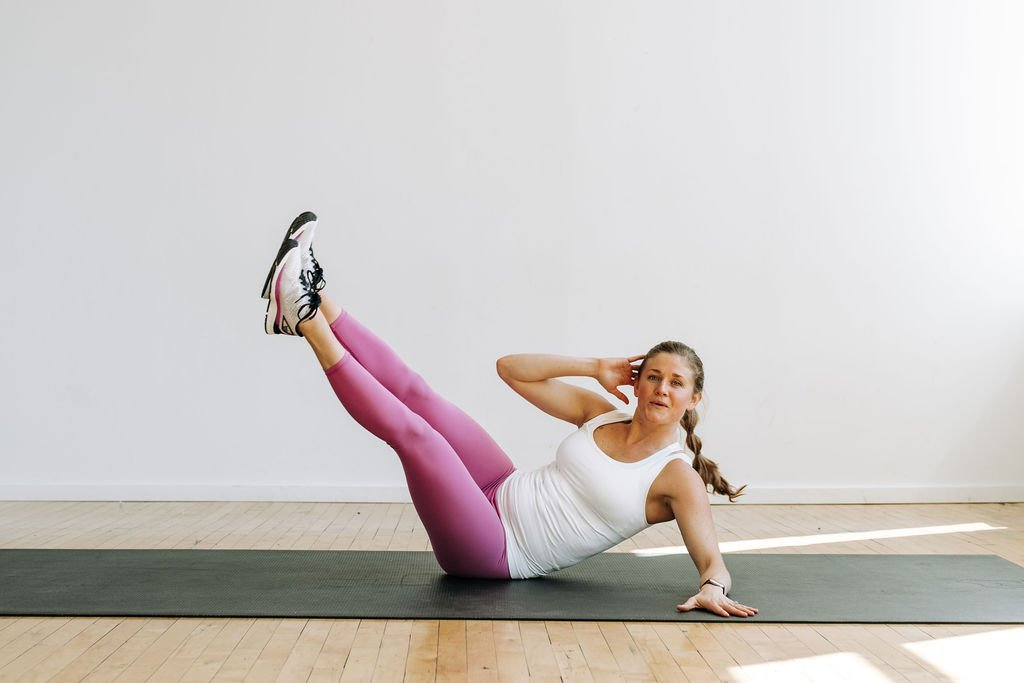7 Minute Abs | v-up exercise