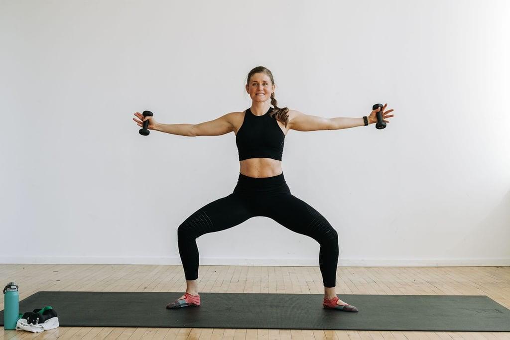 Barre Blend Sample Workout pliè squat