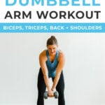 30 Minute Dumbbell Arm Workout for Women