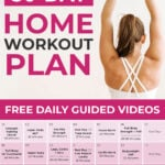 Home Workout Plan | 30 Day Workout Calendar