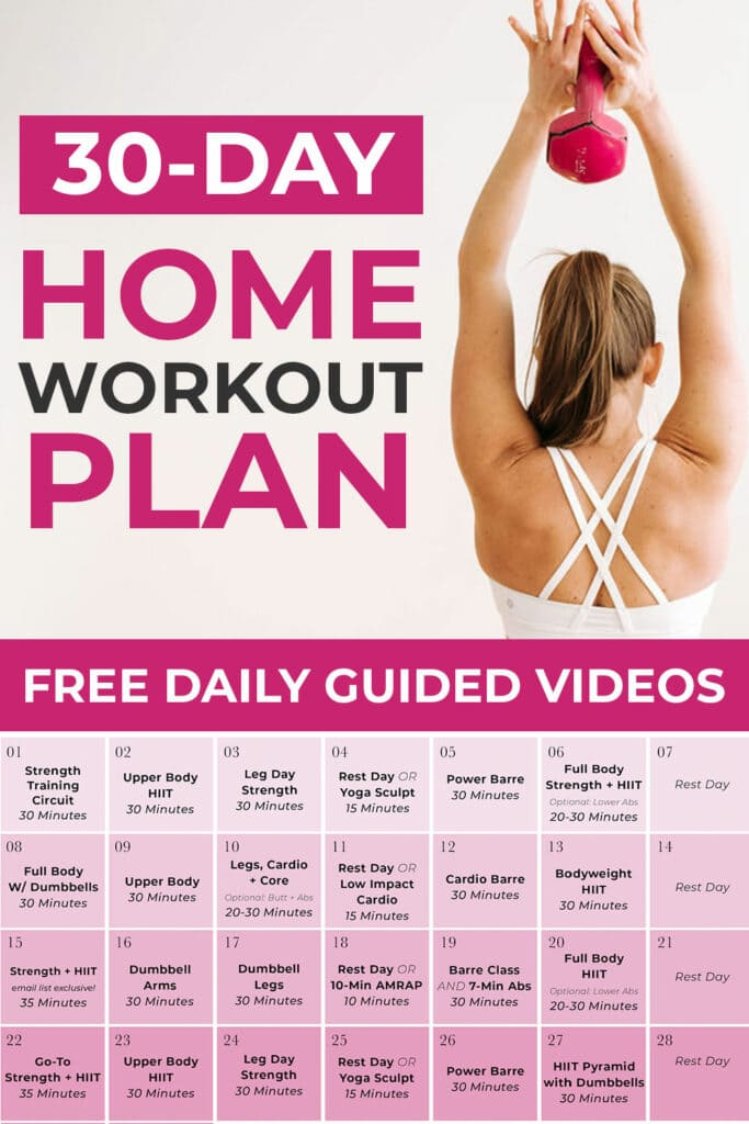 30 Day Home Workout Plan
