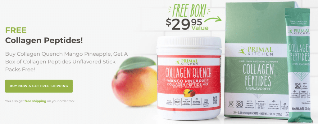 Primal Kitchen Free Collagen Peptides Offer