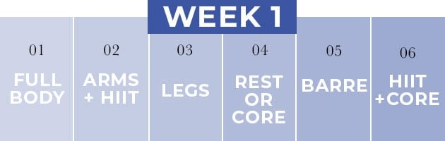 14 Day Challenge Week One Workout Plan