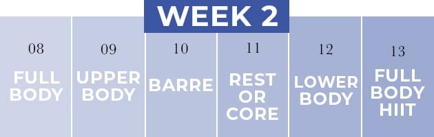 14 Day Challenge Week Two Workout Plan