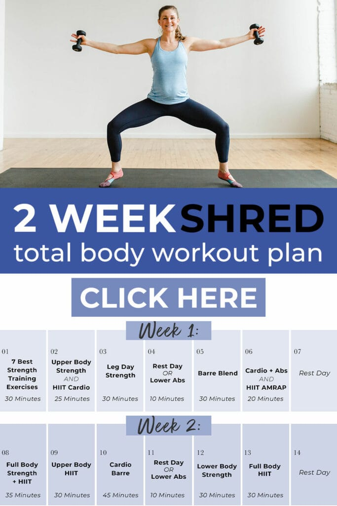 2 Week Shred Total Body Workout Plan