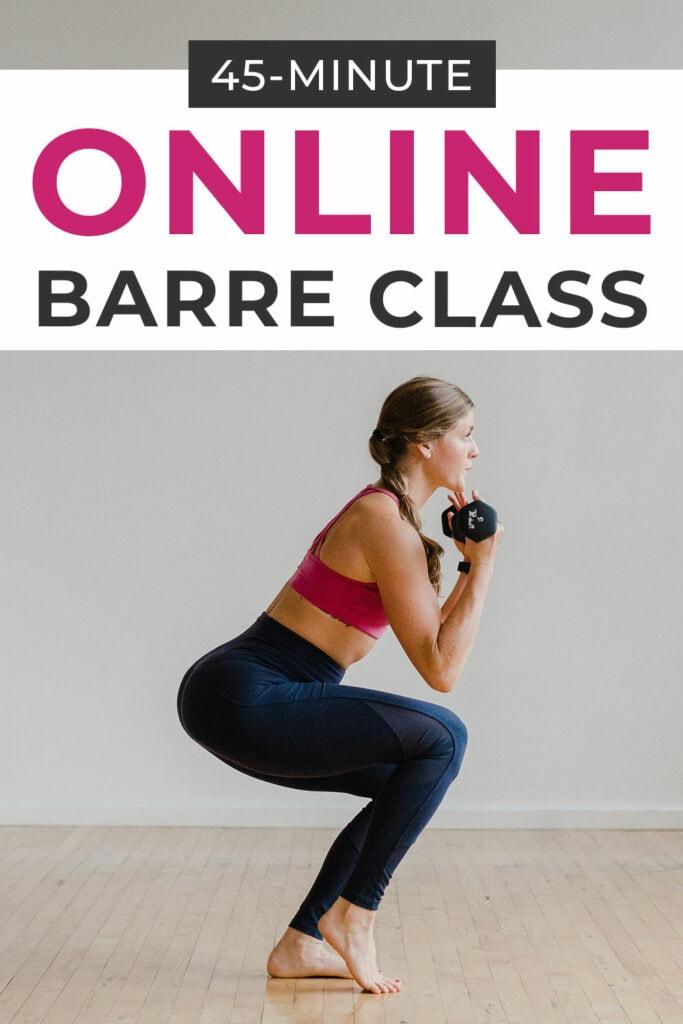 45 Minute Online Cardio Barre Class