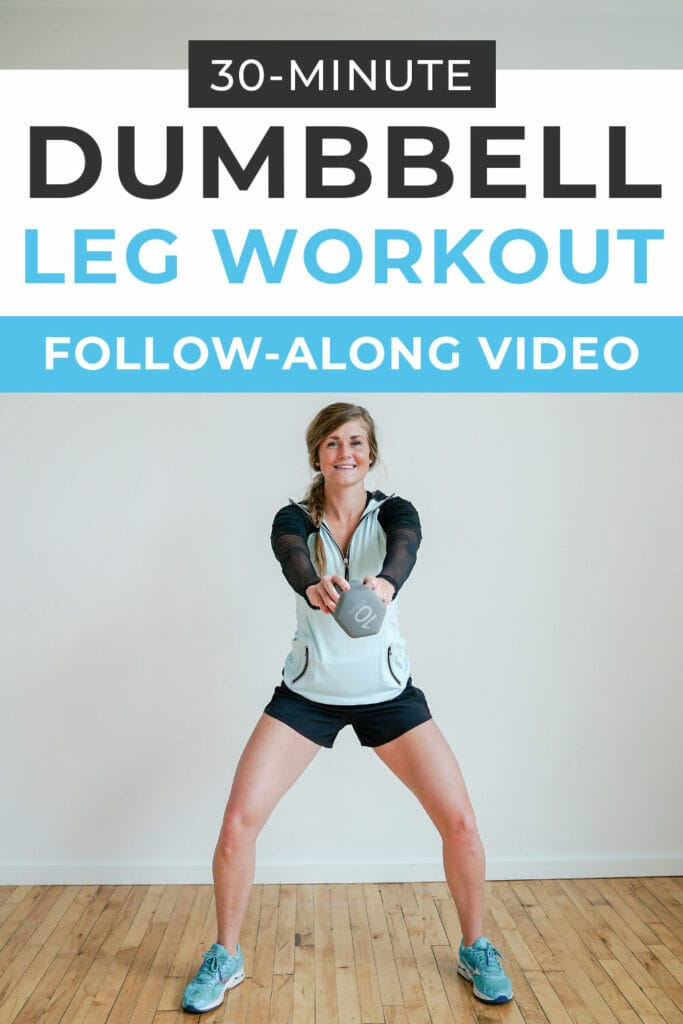 30 Minute Dumbbell Leg Workout At Home