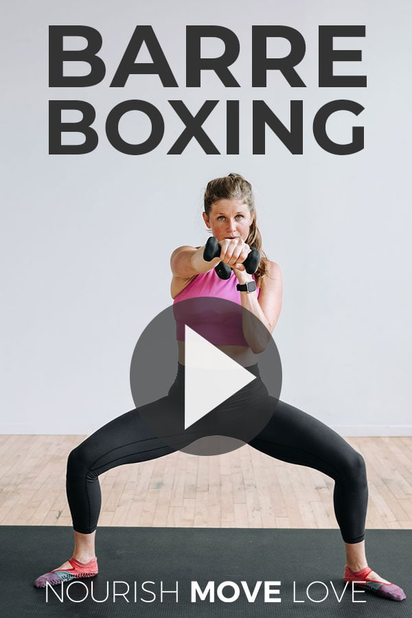 Barre boxing workout at home