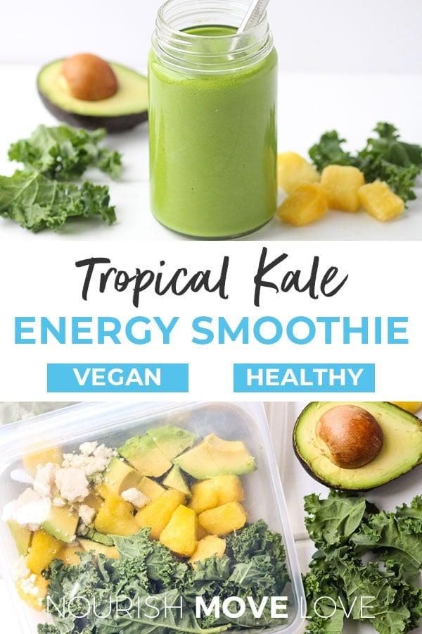Kale Pineapple Energy Smoothie Recipe