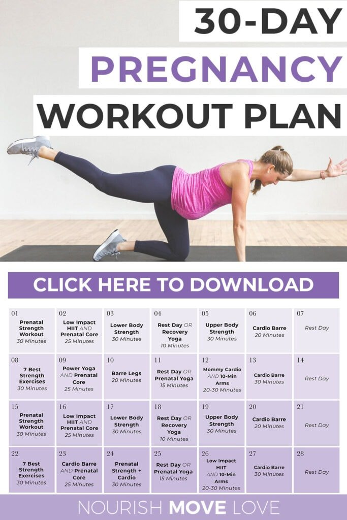 30 Day Pregnancy Workout Plan