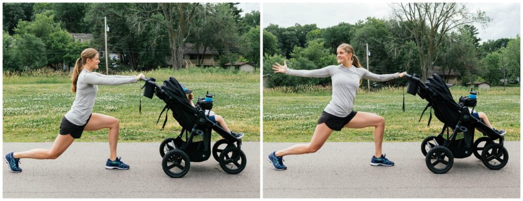 walking lunge stroller exercise