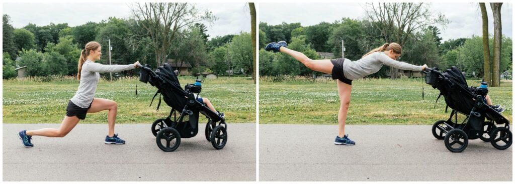 walking lunge rear leg lift