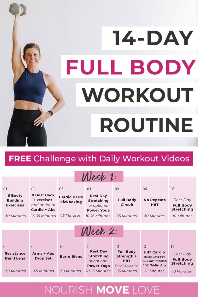 14-Day Challenge Full Body Workout Plan