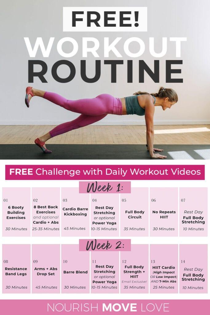 Free Workout Plan For Women 2 week challenge