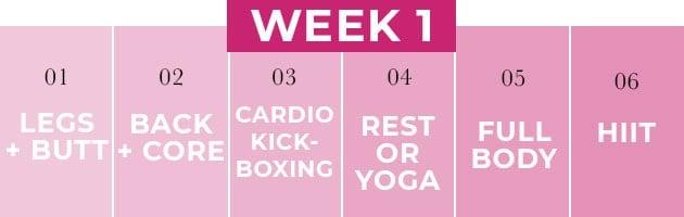 Weekly Workout Plan Week 1