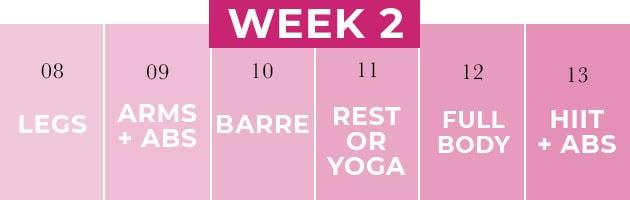 Weekly Workout Plan Week 2