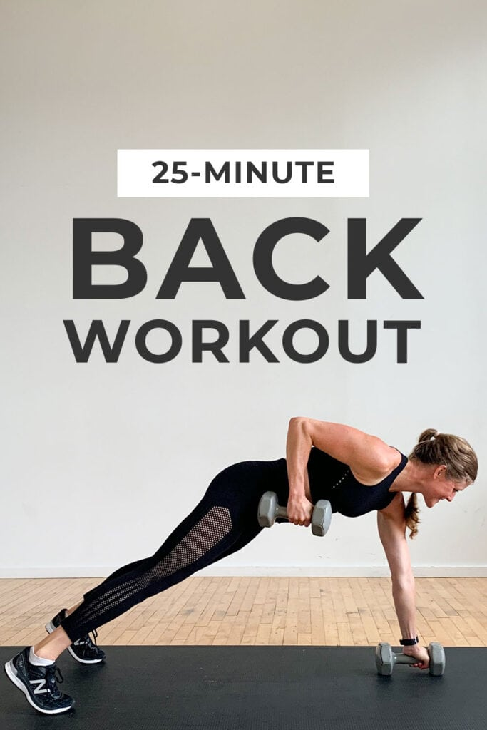 25-Minute Back Workout for Women | dumbbell only back workout