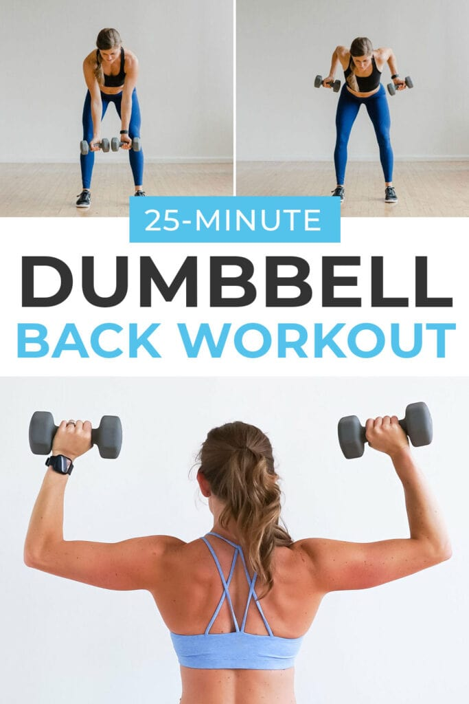 8 BEST Back Exercises for Women in a 25 Minute Dumbbell Back Workout