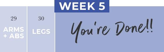 30 Day Workout Plan Week 5