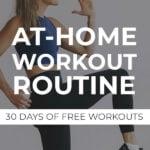 At Home Workout Plan Pin