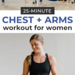 Chest Workout for Women Pin for Pinterest | pushup chest exercise