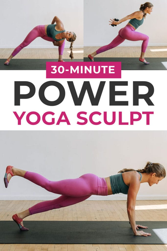 30 Minute Power Yoga Sculpt Workout Class