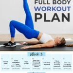 Full Body Workout Plan pin for pinterest
