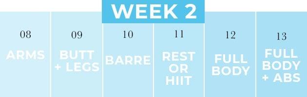 2 Week Shred Week 2 Workouts