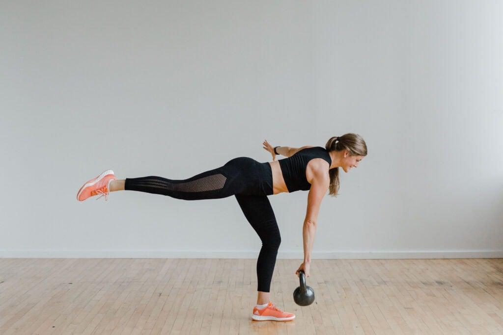 Kettlebell Leg Workout | Single Leg Deadlift with Medium Kettlebell