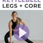 Kettlebell Leg Exercises for Pinterest
