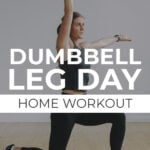 Dumbbell Leg Workout At Home