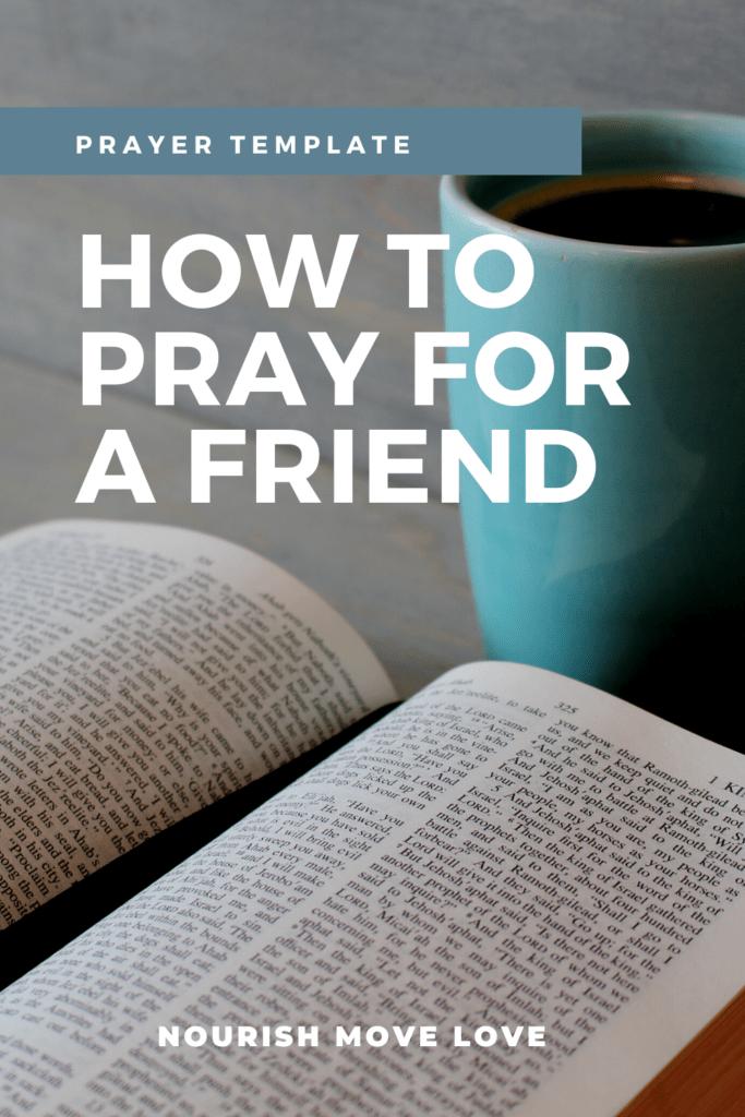 Prayer for a Friend pin for Pinterest