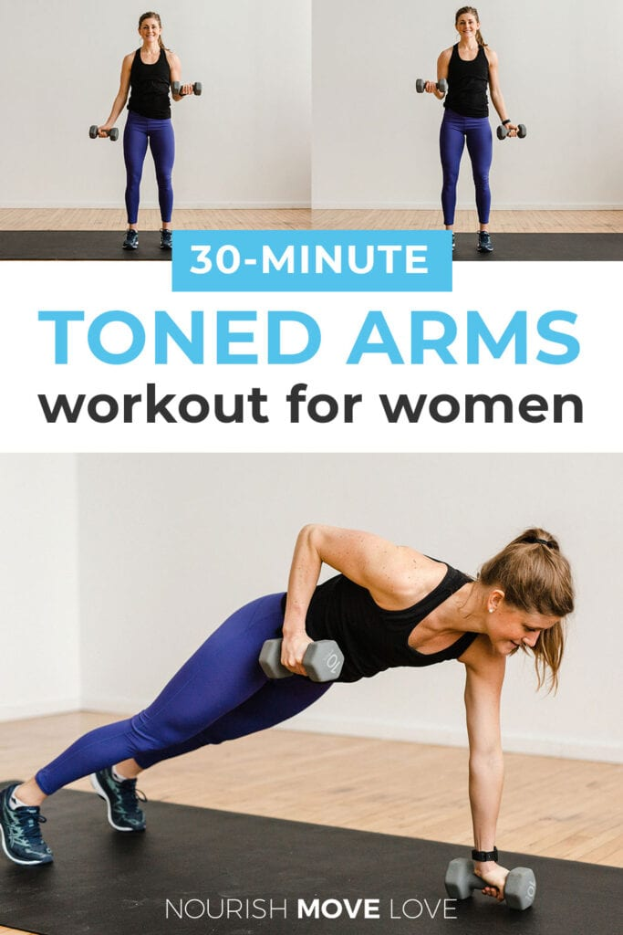 Toned Arms Workout for Women pin for Pinterest
