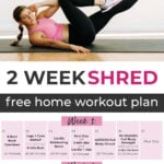 2 Week Shred Workout Plan