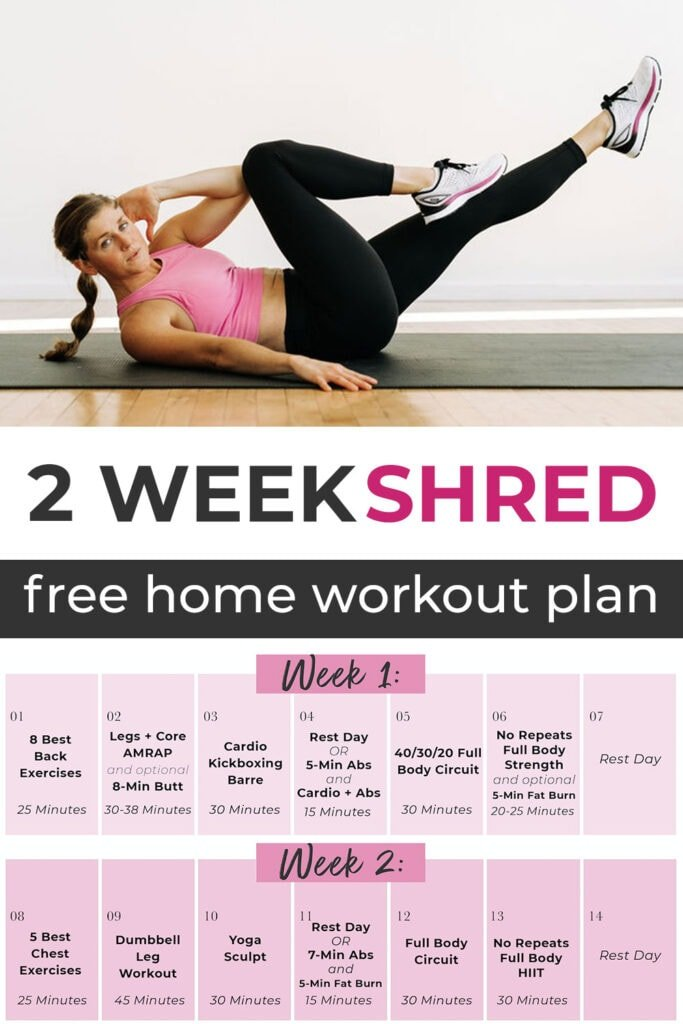 2 Week Shred Home Workout Plan