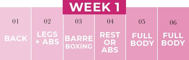 2 week shred workout challenge week one