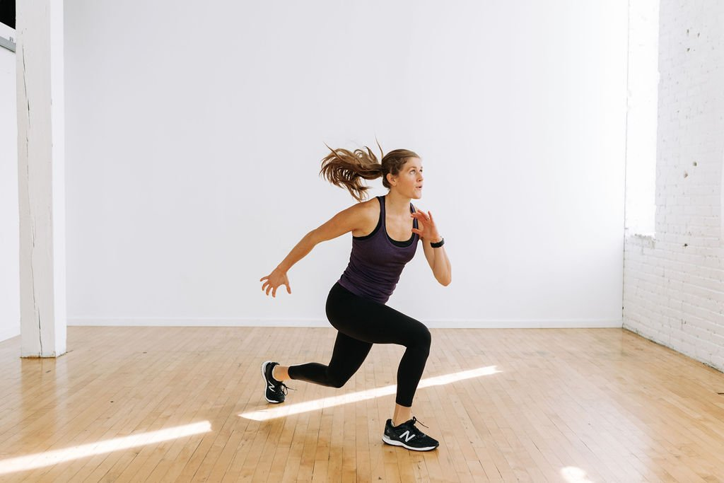 Jump Lunges circuit training at home