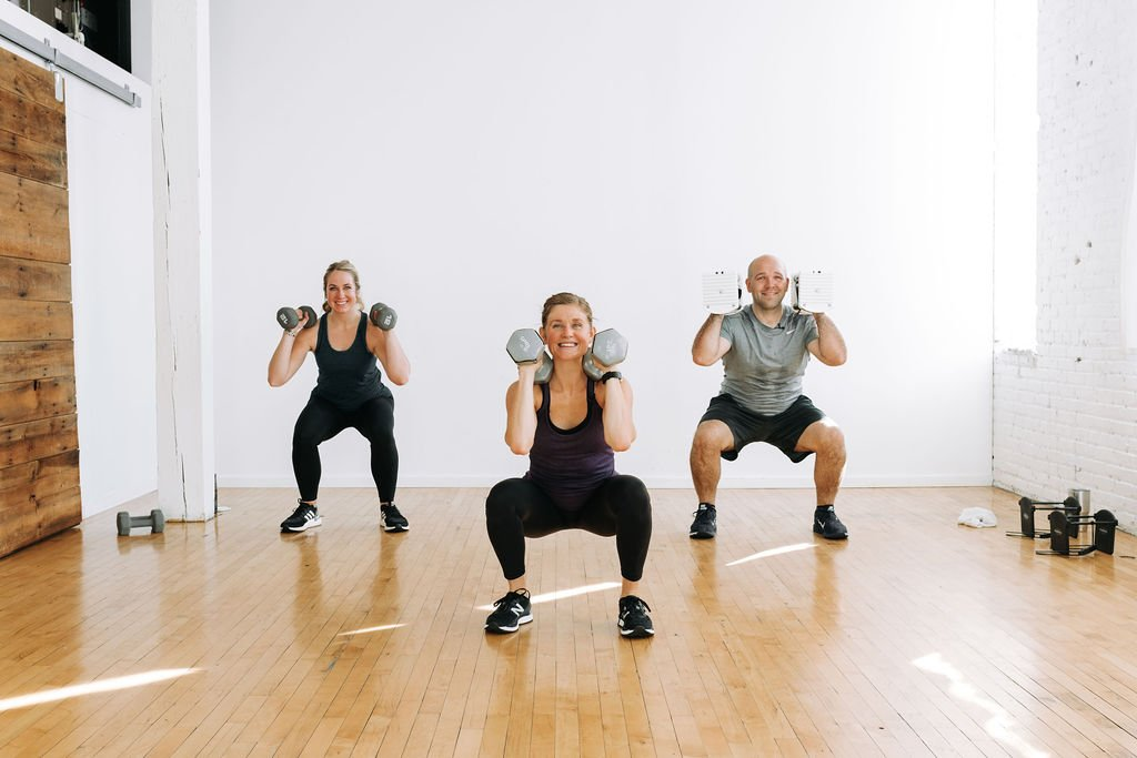 Squat with Dumbbells   At Home circuit Workout