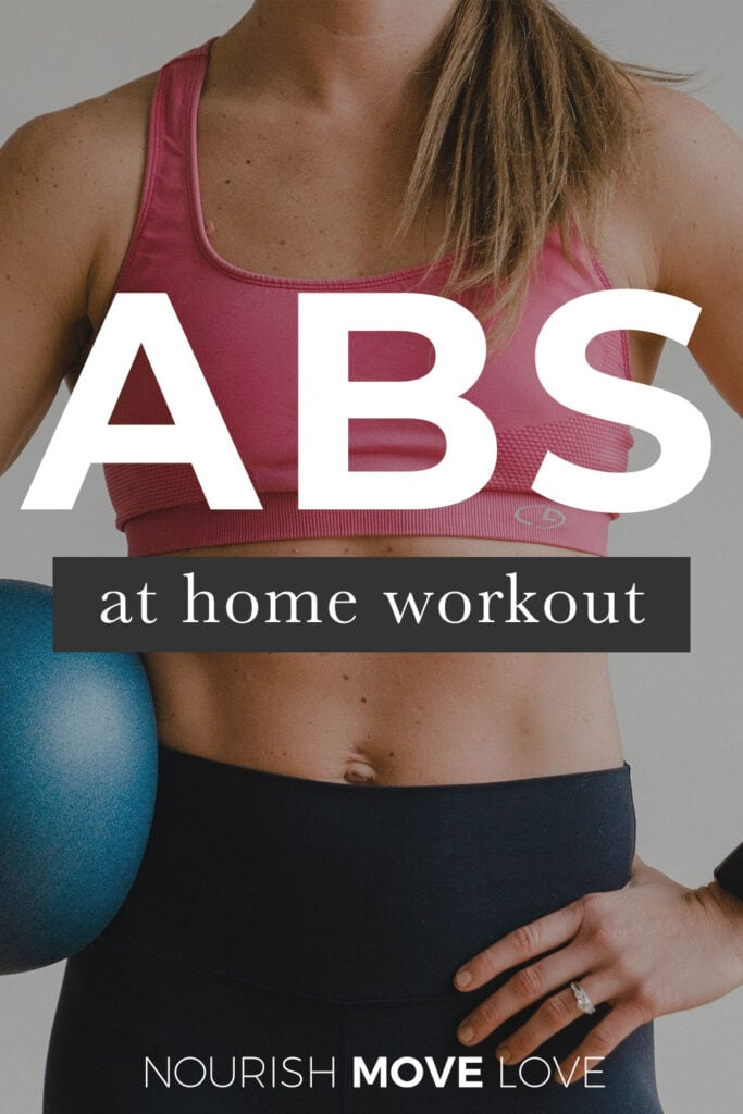 ab workouts for women at home