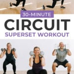 At Home circuit workout pin for pinterest