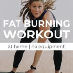 Fat Burning Workout Pin for Pinterest