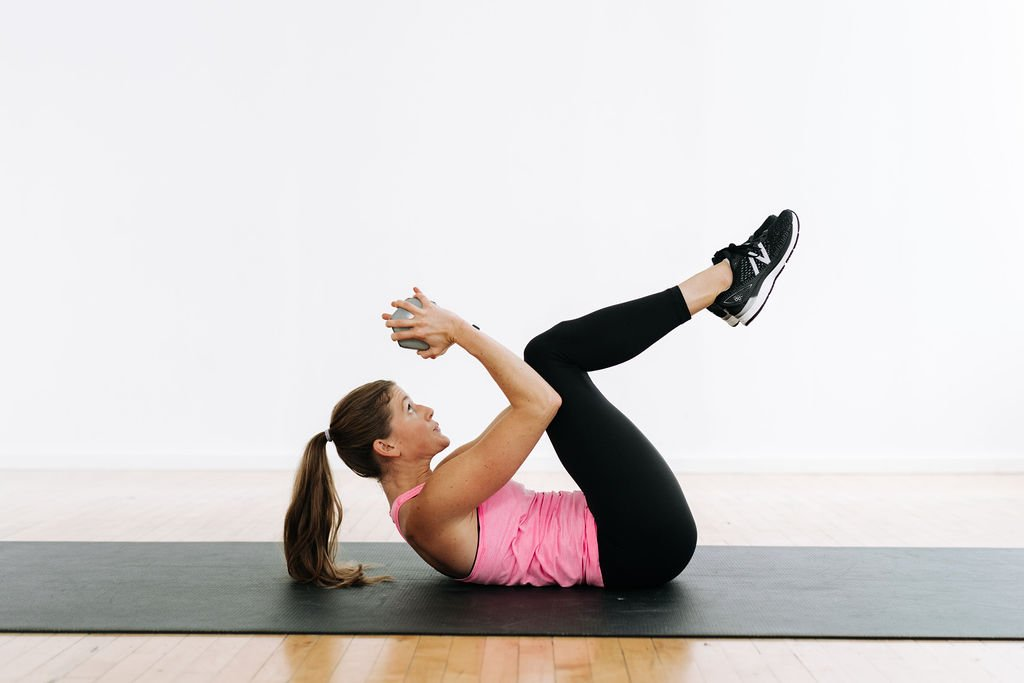 Full Body Strength Workout   weighted crunches for toned abs