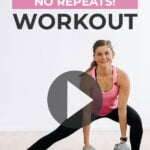 Strength Training At home Workout pin for pinterest