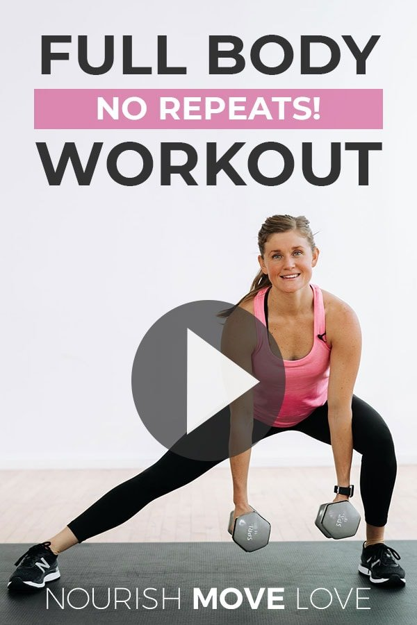 Strength Training At home Full Body Workout No Repeats